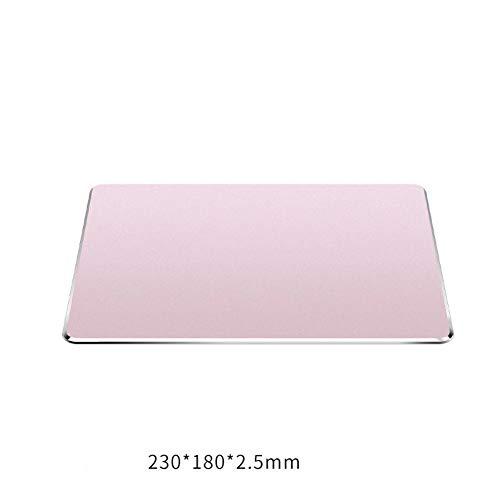GGYDD Silber 100% Metal Mouse Pad,glatt Ultra Dünne Mouse Mat Aluminium-Legierung Wasserdicht Schreibtischunterlage Tastatur Handballenauflage Unterstützung-j 230x180x2.5mm