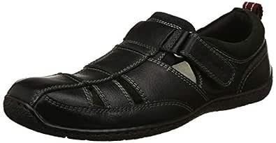 Hush Puppies Men's Sawyer Black Leather Sandals-7 UK/India (41 EU) (8646004)