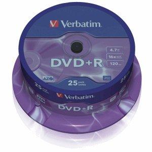 image relating to Printable Dvd Rohlinge named Verbatim DVD-Rohlinge DVD+R 4,7GB/16x auf Spindel VE\u003d25 Stück