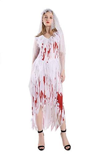 Halloween-Erwachsenen Kostüme Für Frauen, Vampir-Dämonen Kostüme, Horror-Brautkleider Für Halloween-Kostümpartys, Geburtstagsfeiern Und Verschiedene Partys, Bühnenkostüme,L
