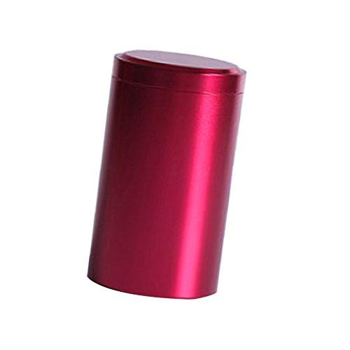Sharplace Protable Rote Aluminium Legierung Tee Zinn Kaffeedose Kaffee Kanister Schmuck Runden Kasten