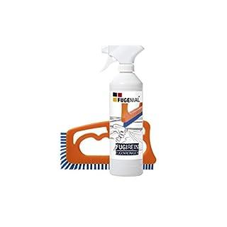 Fuginator Fugenbürste inkl. Fugenreiniger 500 ml - Fugenreinigungsset - Bürste zur Fugenreinigung in Bad, Küche und Haushalt