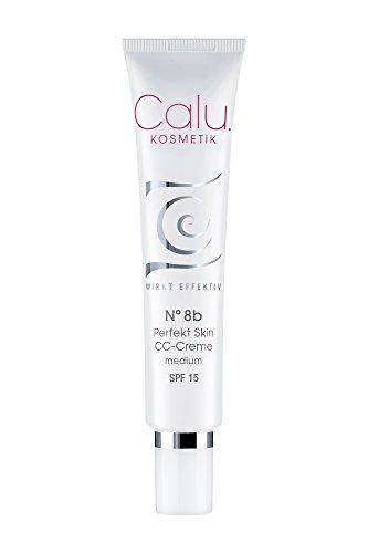 Getönte Tagescreme Calu N°8b Perfekt Skin CC-Creme medium 40ml mit Hyaluronsäure Lichtschutzfaktor und Anti-Aging Effekt