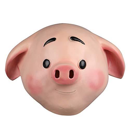 Niedliche kleine Schwein volle Kopf Latex Maske für Kinder Kinder Maskerade Party Dress Halloween Cosplay kostüm,A-OneSize (Halloween Schwein Kleines Kostüm)