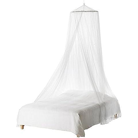 LEORX Mosquitera–Cama infantil dosel para cuna con mosquitera (Blanco)