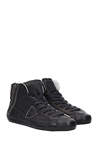 BIHUWL01 Philippe Model Sneakers Homme Cuir Noir Noir