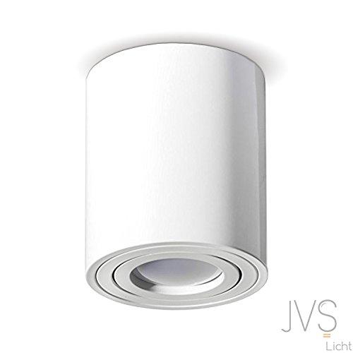 Aufbauleuchte Deckenleuchte Aufputz LED MILANO -LANG-GU10 230V[rund,weiss,schwenkbar] Deckenleuchte Strahler Deckenlampe Würfelleuchte CUBE Kronleuchter aus Aluminium gebüstet Spot OHNE LEUCHTMITTEL
