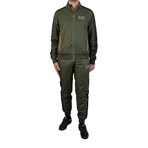 Emporio Armani EA7 Herren Jumpsuit Fashion Anzug Sweatshirt Grün EU M (UK M) 6ZPV04PN30Z1852