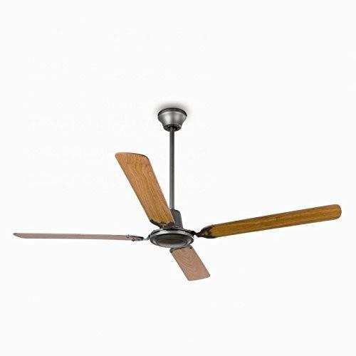 Faro Barcelona 33110 - MALVINAS Ventilador de techo sin luz, acero inyectado y palas de madera ply...
