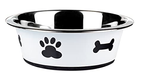 Classic Pet Products Classic Posh Paws Dish, 1600 ml, White