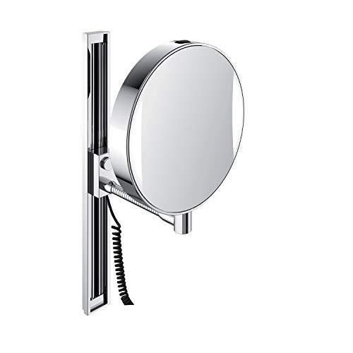 Emco Kosmetikspiegel rund, mit Beleuchtung, mit Flexarm, 3-Fach und 7-Fach vergrößert, Spiegel beidseitig - 109506012