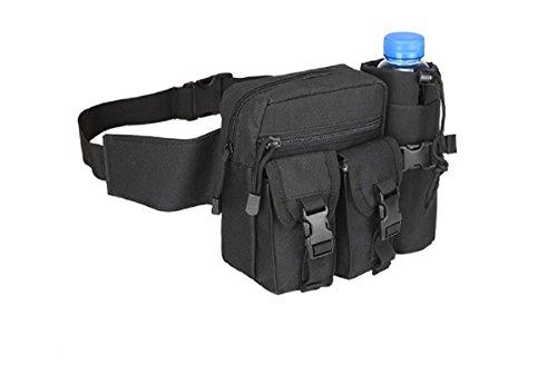 Tactical bag hip Packs marsupio marsupio da trekking pesca sport caccia borse vita sport tattico borsa marsupio, Uomo, Jungle green Black