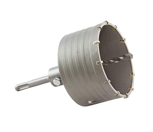 Bohrkrone Dosenbohrer Lochbohrer Lochsäge Kernbohrer SDS Plus 100 mm mit Bohrer (SDS100)