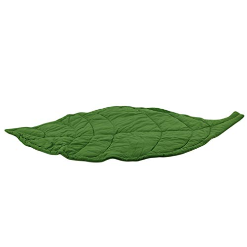 Eleusine Blattform Newborn Baby Krabbeln Matte Boden Teppich Spielmatte Kinderzimmer Dekoration (Grün) - Blättern Teppich