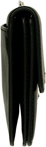 Michael Kors Sac Bandoulière De Sloan Gousset En Cuir Noir Structuré Black Leather