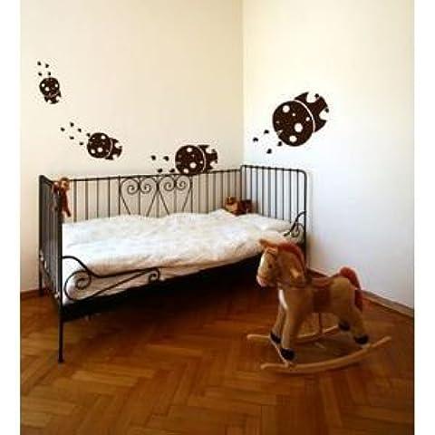 Adesivo Coccinelle grazioso–gravissimo, Specchio, H120cm X L120cm - Coccinella Specchio