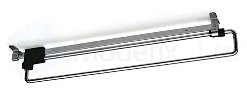 GTV Garderobenauszug Kleiderbügel Kabelsortierer Schiene aus Metall, 500 mm -
