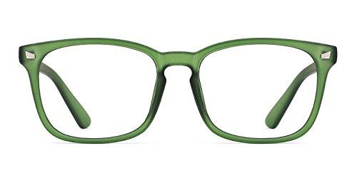 TIJN Blaulichtfilter Brille Damen Herren Brille ohne sehstärke Computer Brillen Gaming Brillen für PC Handy und Fernseher