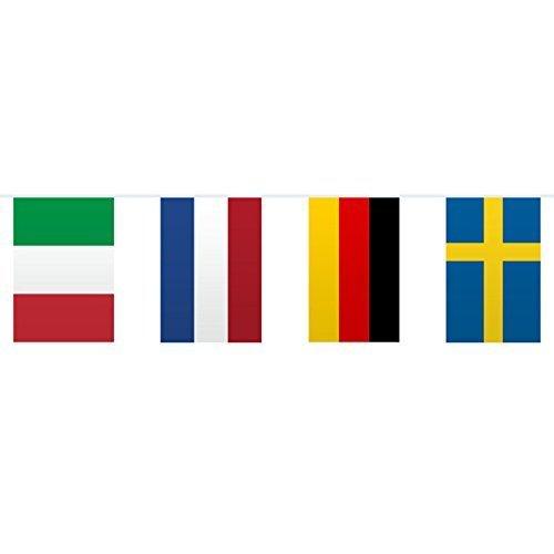 Wimpelkette mit Europaflaggen, 10m (Internationale Flaggen-party)