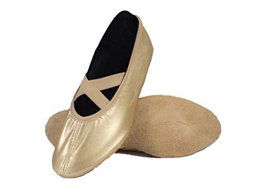Yaro Ballettschuhe, Gymnastikschuhe, Turnschuhe, aus Leder, Gold, Gr. 31