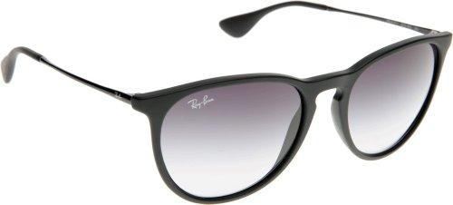 Ray-Ban Polarisierte Sonnenbrille Frauen Erika - 54Mm Rubber Schwarz-Light Grau (One Size, Schwarz)