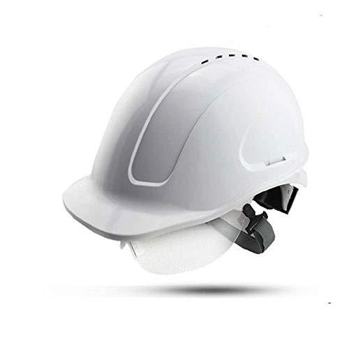 GBY Casco di Sicurezza Casco di Sicurezza Elettricista, Casco Operaio Edile, Casco Industriale, Casco da Lavoro, Casco Casco del Muratore con Ventilazione (Colore : Bianca)