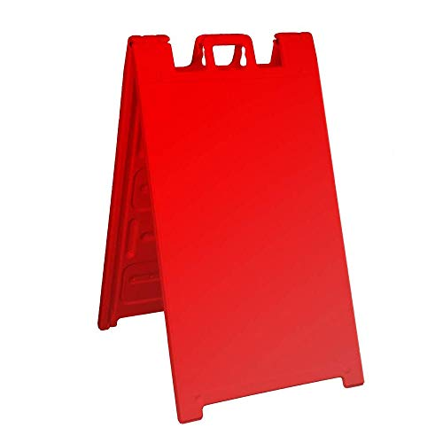 Plasticade Signicade Curb Sign / A-Frame 24x36 Color:Red by Plasticade