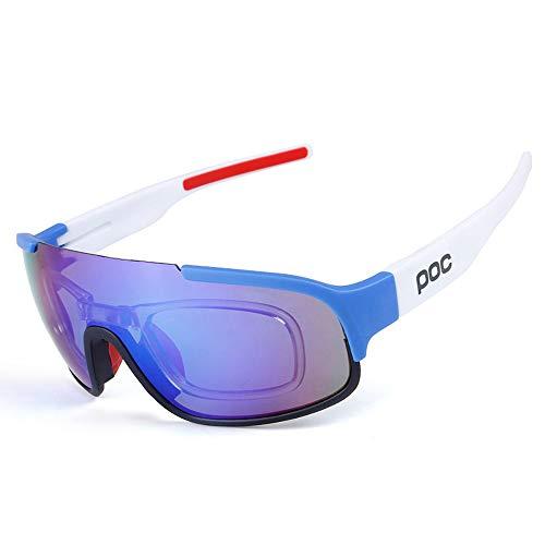 OBAOLAY Stylische Outdoor-Radtour in polarisiertem glass/tr90-Material, schlagfeste Sportglasses/enthält DREI Objektive,D