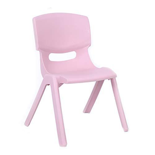 LJLJX Moderner Stuhl Im Euro-Stil, Kinderstuhl Aus Kunststoff, Leichter Rutschfester Hocker Für Spielzimmer, Schulen Und Privathaushalte,Pink - Moderner Kunststoff-stuhl