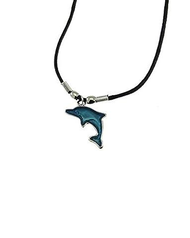Zac's Alter Ego ® Bleu dauphin Pendentif sur Collier cordon