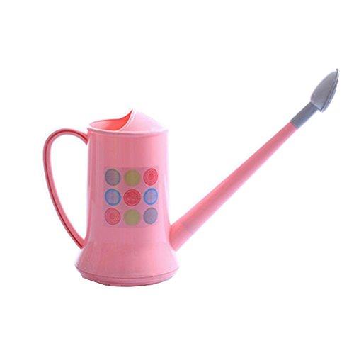 Plastique détachables long bec arrosoir arrosoir rose