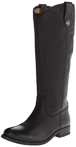FRYE Women's Melissa Button Boot, Black Washed Antique Pull-Up, 7 M US - Boot Melissa Frye Button