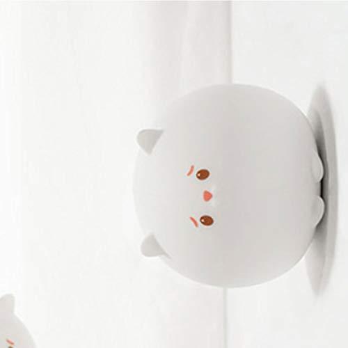 GXCX Kinder Nachtlicht tragbare Silikon LED Touch Nachtlicht Cartoon Kätzchen USB Lade Pat Nachttischlampe Baby Schlafzimmer Nachtlicht-Wallsticker