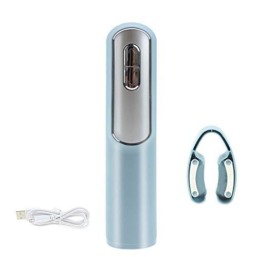 CFPacrobaticS Elektrische automatische wiederaufladbare Wein Flaschenöffner Korkenzieher Folienschneider Werkzeug Blau