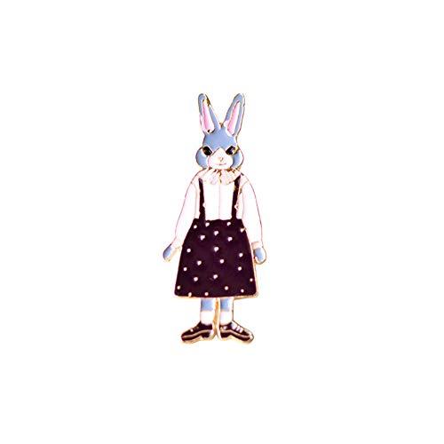 Weiblich Einzigartige Kostüm - Hacoly Hemd Strass Brosche Pin Kostüm Brosche Karikatur Weibliches Kaninchen Boutique Broschen Schmuck Anhänger Anstecknadel Dekoration für Damen Jacken Schals Kleidung Tasche Decor