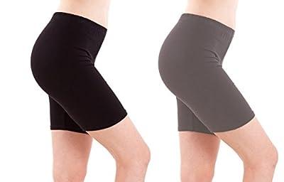 FASHION LINE BLACK AND GREY Sports Shorts, Gym Shorts,Yoga Shorts/Tights(PACK OF 2)