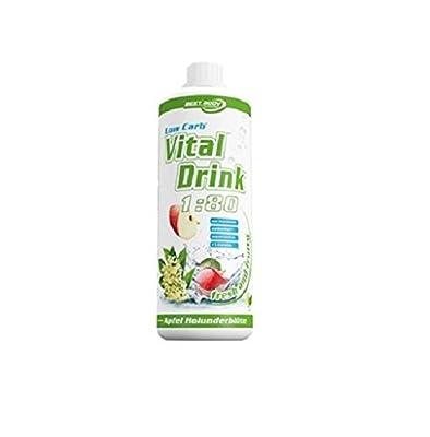 Best Body Nutrition Low Carb Vital Drink 1 Liter Flasche, Waldmeister