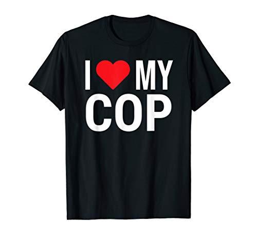 t Cute Police Girlfriend Wife Tee Gift ()