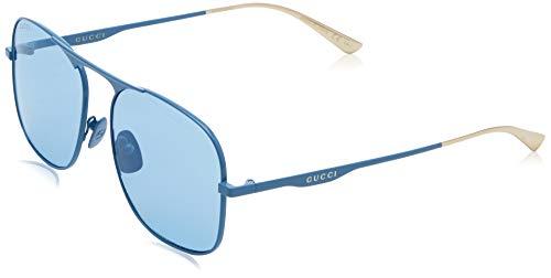 Gucci gg0335s-004 occhiali da sole, blu (azul/mate), 58 unisex-adulto