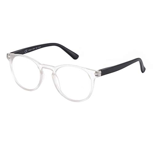 Yefree Männer und Frauen Lesebrille Kunststoff Brillengestell runde Brille Brille Presbyopie Brille