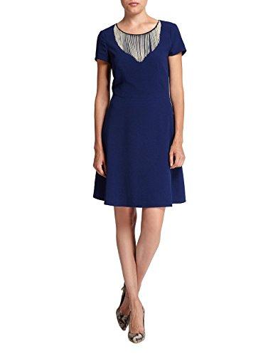 Morgan - Robe - Moulante - Uni - Manches courtes - Femme Bleu (Marine)
