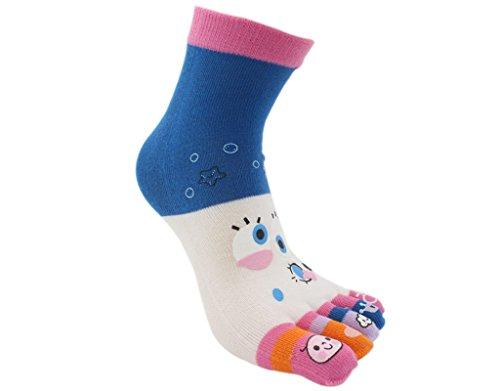 BONAMART Damen Frauen 5 Zehen Socken Zehensocken Toe Socks 34-40