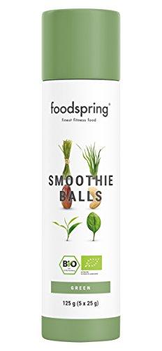 foodspring Bio Smoothie Balls Green (Gemüsig), 5 x 25g, Dein 30 Sekunden Frühstücks Smoothie ohne zugesetzten Zucker und künstliche Aromen, Aus nachhaltiger Bio-Landwirtschaft