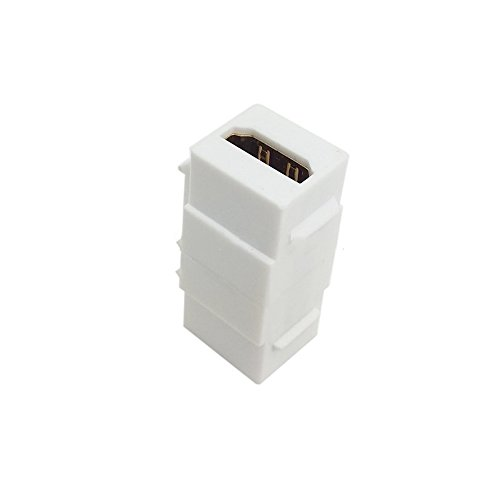 Weibliche Keystone Jack (10 Teile/Beutel HDMI 1,4 Snap-in Weiblich zu Weiblich F/F Keystone Jack Koppler Adapter für Wandplatte Weiß)