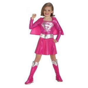 me Kids Fancy Dress All Sizes (Pink Supergirl Kind Kostüme)