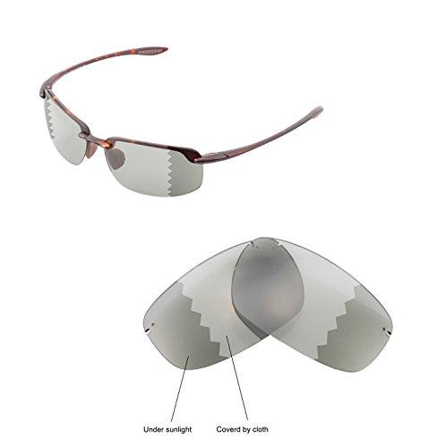 Walleva Ersatzgläser für Maui Jim Ho'okipa Sonnenbrille - Mehrfache Optionen (Übergang / Photochromisch - Polarisiert)