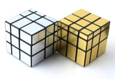 GSM®dumanhill 3X3X3 High Speed Mirror Cube Mirror Puzzle Cube Speed Cube (Mirror Cube Silver or Gold)