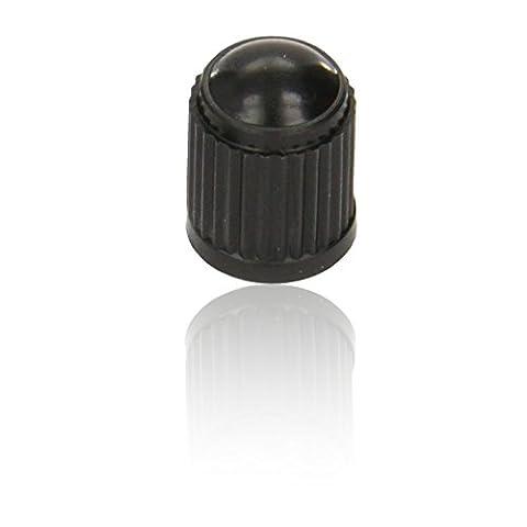 CDL Micro Plastic Tyre Valve Dust Cap/ Cover - BLACK