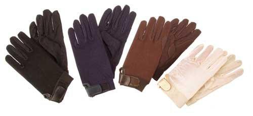 Coton paume Gants Noir