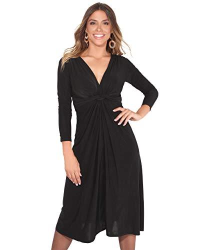 KRISP Vestido Mujer Corto Talla Grande Boda Noche